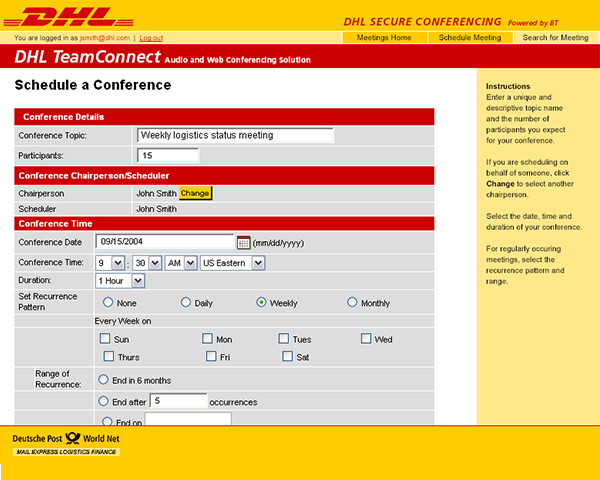 DHL TeamConnect